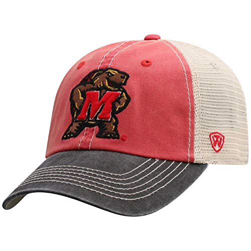 Top of the World Adult Unisex's Offroad Snapback Mesh Back Adjustable Hat, Maryland Terrapins Red, One Size