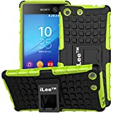 iLee Premium Kickstand Hybrid Back Cover for Sony Xperia M5/M5 DUAL - Color: Green (12 Months Warranty)