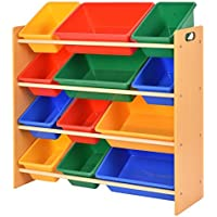 Giantex Toy Bin Organizer Kids Childrens Storage Box Playroom Bedroom Shelf Drawer
