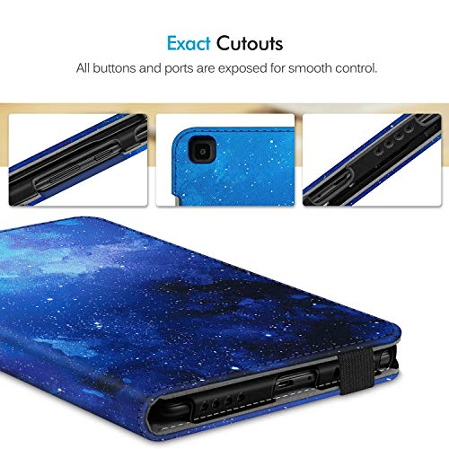 Fintie Folio Keyboard Case for Samsung Galaxy Tab A 8.0 2019 Without S Pen Model (SM-T290 Wi-Fi, SM-T295 LTE), Premium PU Leather Stand Cover w/Removable Wireless Bluetooth Keyboard, Starry Sky