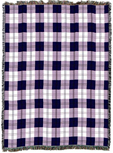 (Pure Country Weavers | Boysenberry Plaid Woven Tapestry Throw Blanket with Fringe Cotton USA 72x54)