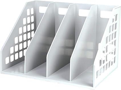 Caja De Archivo Cuádruple Oficina Caja De Almacenamiento De Documentos Titular De Archivo De Escritorio Almacenamiento De Datos Cesta De Archivos Estanteria De Libros Simple Marco De Datos Soporte De: Amazon.es: Oficina