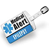 Luggage Tag Medical Alert Blue Epilepsy - NEONBLOND