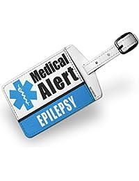 Luggage Tag Medical Alert Blue Epilepsy - NEONBLOND