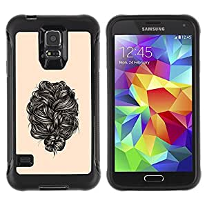 Suave TPU Caso Carcasa de Caucho Funda para Samsung Galaxy S5 SM-G900 / hair black / STRONG