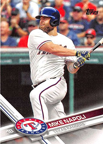 2017 Topps Series 2  681 Mike Napoli Texas Rangers Baseball Card