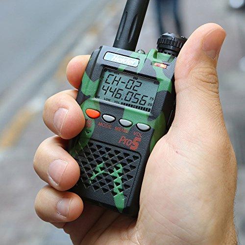Heider Pro5 PMR 446 Handheld Radio-15 Km Communication Distance Black  Colour (1 Piece)