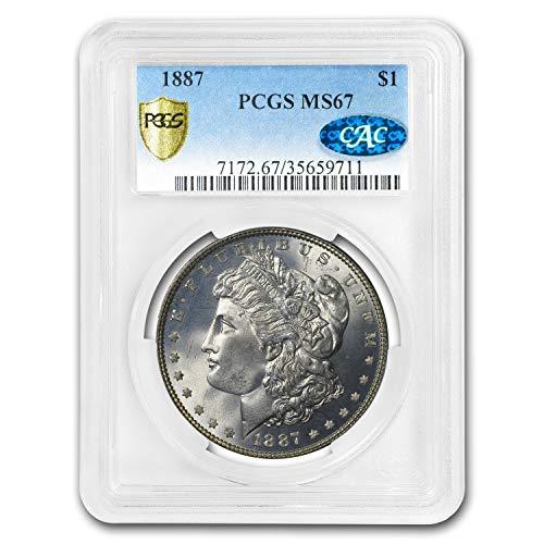 1887 Morgan Dollar MS-67 PCGS CAC $1 MS-67 PCGS