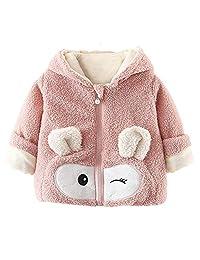 Baby Girls Boys Fleece Hoodie Jacket Coat Cute Bear Ear Winter Warm Outwear