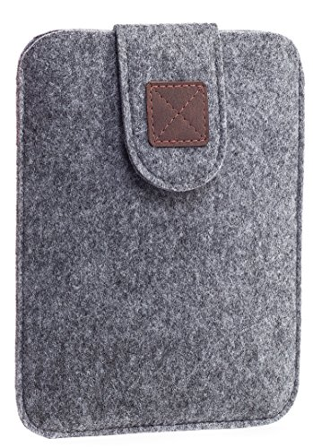 Kindle Paperwhite Sleeve - Kindle Voyage, Protective Felt Cover Case Pouch Bag for Amazon Kindle Paperwhite - Voyage (Light Grey) - Kindle Case ()