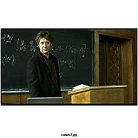 James Spader 8 Inch x10 Inch Photograph Boston Legal The Blacklist Stargate Black Blazer Over Brown Shirt at Podium Math on Blackboard kn