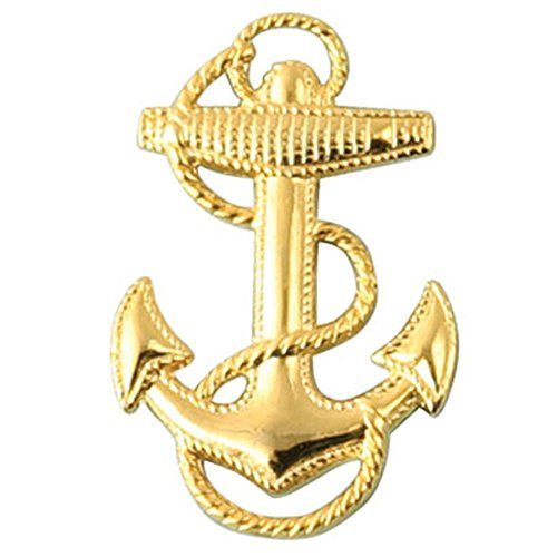 Navy Fouled Anchor Lapel Pin, 1.25 inch