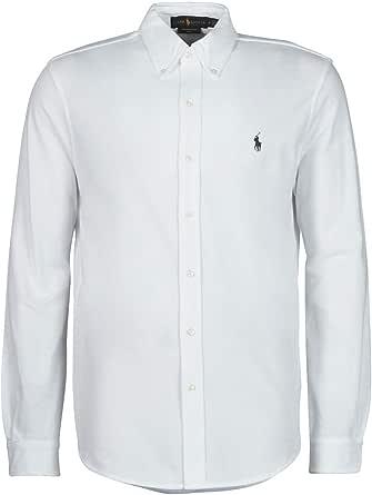 Ralph Lauren Short Sleeve-Knit Camiseta, Blanco (White ...