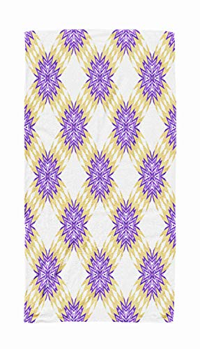 - KIOAO Extra Large Beach Towels, 30x60 Geometric Pattern Zigzags Triangles Textiles Book Design Background Beach Towels for Kids,Adults,Pool,Swim,Water Sports