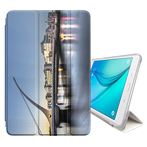 Graphic4You Dublin Ireland Postcard View Smart Cover Case Stand for Samsung Galaxy Tab E Lite 7