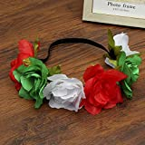 New Big Simulation Flower Elastic Hair Bands Women 6 Colors Easter Hair Accessories Wreath Headband Girls Headdress As Show