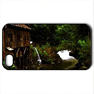 Grist Mill - Case Cover for iPhone 4 and 4s (Watercolor style, Black)