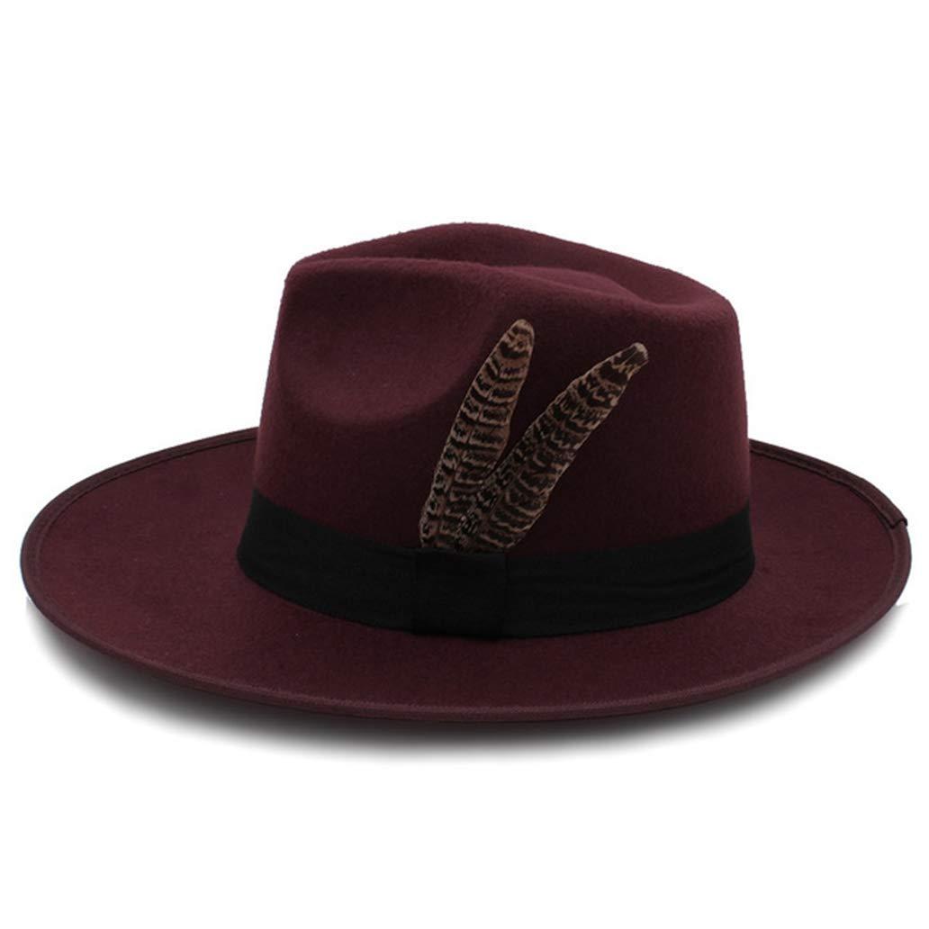 Unisex Fashion Felt Fedora Hat Wide Brim Jazz Hat Gentleman Manhattan Hat