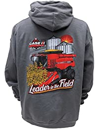 Leader in the Field Case IH Celebrating 30 Years Charcoal Hooded Sweatshirt