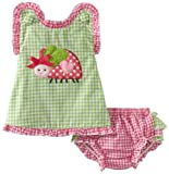 Mud Pie Baby-girls Newborn Lady Bug Pinafore And Bloomer Set