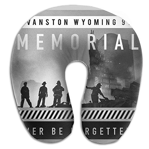 YANDA Double-Sided Printing Evanston Wyoming 911 Memorial Never Be Forgetten U Shape Travel Pillow Memory Pillow Supports The Head Neck In Any Sitting Position Perfect