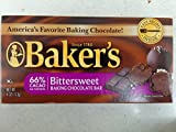 Baker's Bittersweet Baking Chocolate Bar, 4 Oz (6-Pack)