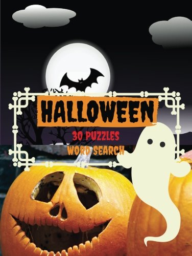 Halloween 30 Puzzles Word Search: Halloween themed word search puzzles (10 words per puzzle) Puzzles Game For Kids 4-8 -