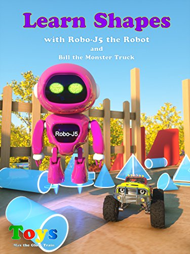 Learn Shapes with Robo-J5 the Robot And Bill the Monster Truck (Robot Shapes Race)