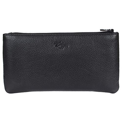 Women's Wristlet Clutch Handbag Genuine Leather Envelope Evening -
