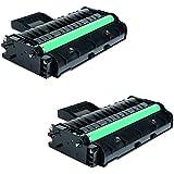 2 Compatibles Toner Laser pour Ricoh SP 201N, SP 204SF, SP 204SFN, SP204SFNW, SP 211, SP 211SF, SP 211SU, SP 213SFNw, SP 213SFW, SP 213SUW, SP 213w | 407254 407255 2600 Pages