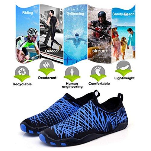 cheaper 7c674 27ade Da Spiaggia Bambini Uomo Sportivo Scarpe Aqua Per Acquatici Surf  Abbigliamento Sportive Di Scarpette Mare Blu ...