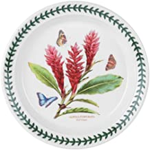 Portmeirion Exotic Botanic Garden Salad Plate with Red Ginger Motif, Set of 6
