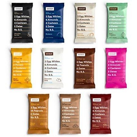 RxBar Real Food Protein Bars, ALL Flavors Variety Pack, 11 Flavors w/ NEW Chocolate Chip, Mixed Berry, and Peanut Butter Chocolate (11 Bars) by RXBAR