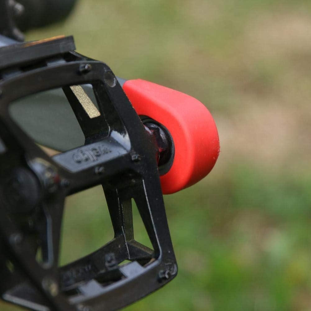 gelb Radfahren Radfahren Starnear Silikon-Kurbelarmschutz f/ür Fahrradfahren Sport