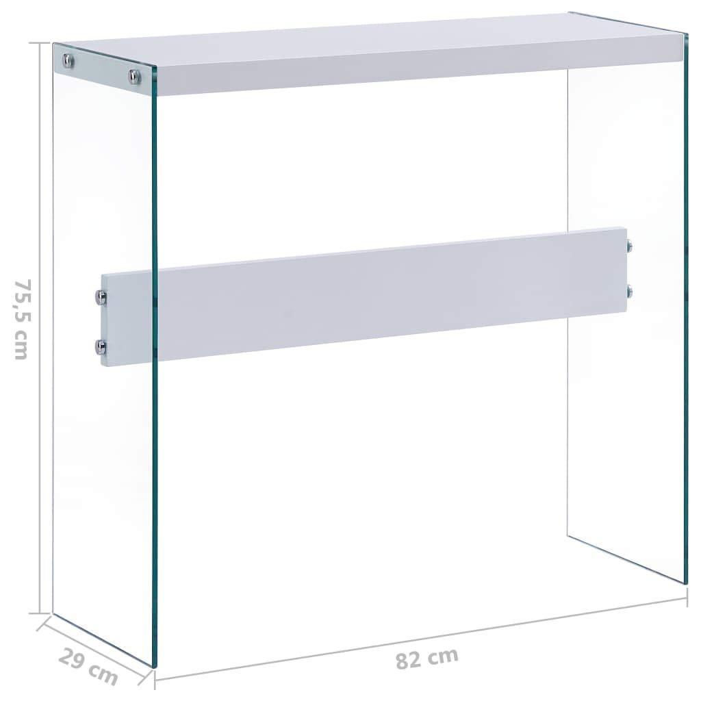 UnfadeMemory Mesa Consola Recibidor de Entrada de Cristal ...