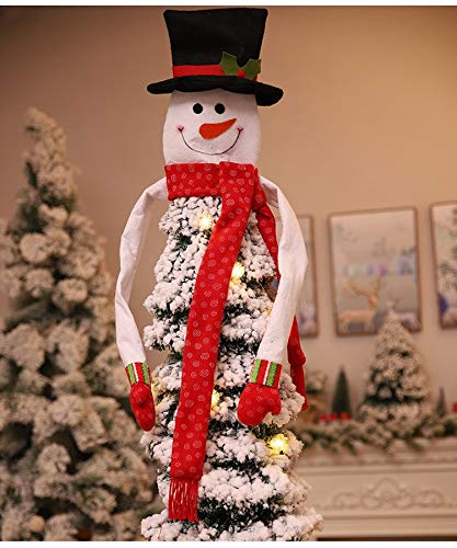Antaram Tree Toppers Merry Christmas Tree Per Cover Snowman Hat