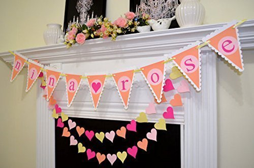 custom baby shower decorations personalized name banner for baby shower baby shower Childrens name banner
