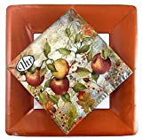 Ideal Home Range 20 Lunch Napkins Apple + 8 Terracotta Classic Linen Dinner Plates | Party Set