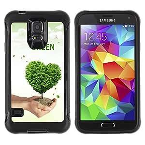 """Hypernova Defender Series TPU protection Cas Case Coque pour Samsung Galaxy S5 V [Corazón del amor de la naturaleza del árbol""""]"""