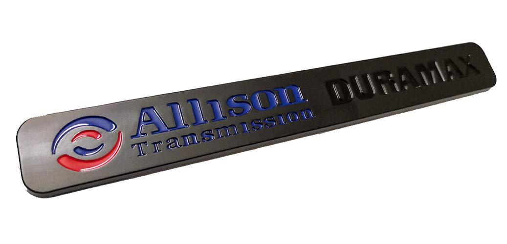 Emzscar Chrome 2pcs Autotuning Allison Transmission Duramax Emblems 2500hd Replacement for Gm Chevrolet Silverado Gmc