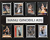 NBA San Antonio Spurs Manu Ginobili 8-Card Plaque, 12 x 15-Inch