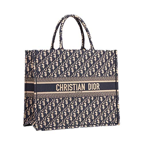 - Women's Shopping Bags DIOR Book Tote Bag In Canvas Embroidered Oblique Bag (3)
