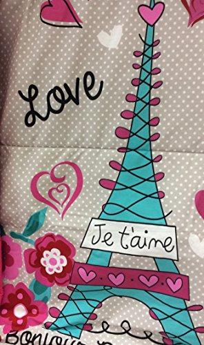 Paris Chic EIFFEL TOWER French,Teen Girls Comforter Set Twin