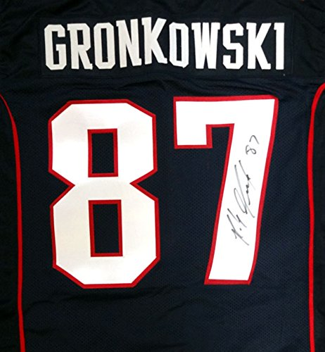 New England Patriots Rob Gronkowski Autographed Blue Jersey PSA/DNA by Gameday Sports & Memorabilia
