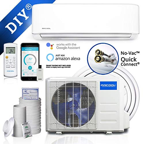MRCOOL DIY 18,000 BTU Ductless Mini Split Air Conditioner and Heat Pump System with Wireless-Enabled Smart Controller; Works with Alexa, Google or App; 230V AC
