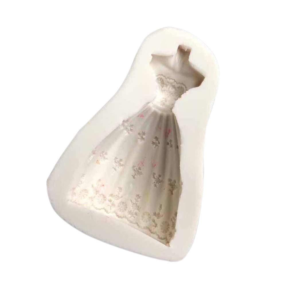 Zmigrapdn Molde Antiadherente para Tartas, Vestido de Princesa de Boda de Silicona, Molde para Fondant, Pasta de glaseado, decoración de Bricolaje, ...