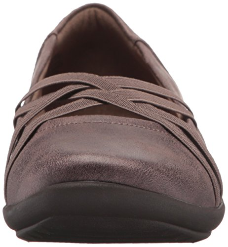 Easy Spirit Womens Aubree2 Flat Dark Taupe/Dark Taupe Fabric