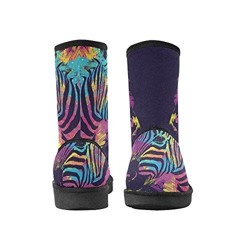 D-story Moda Donna Scarpe Flamingo Alta Cima Donna Snow Boots Color9