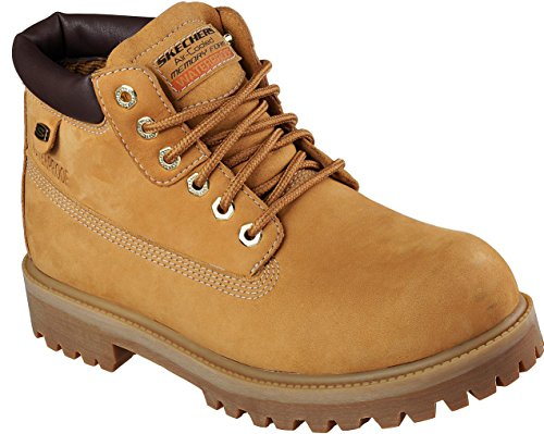 Skechers Mens Sergeants - Verdict Rain Boot, Wheat, Size 10 by Skechers