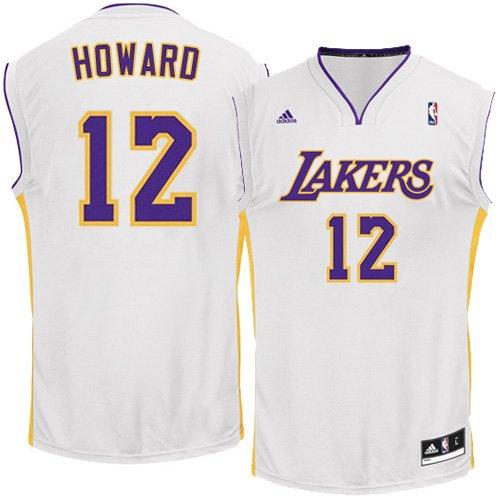 NBA Los Angeles Lakers Replica Jersey, #12 Dwight Howard, White, (Dwight Howard Jersey Numbers)